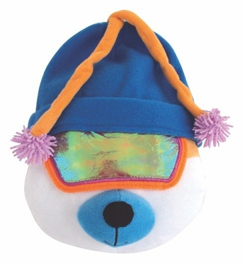 """Dogit Style Apres-Ski Bear with Blue Tuque 10"""" , From Hagen"""
