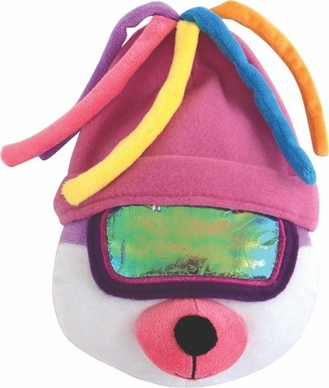 "Dogit Style Apres-Ski Bear with Pink Tuque 10"" , From Hagen"