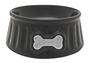 Dogit Style Ceramic Dish, Hydrant Pattern, Black Small, From Hagen