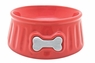 Dogit Style Ceramic Dish, Hydrant Pattern, Red Small, From Hagen