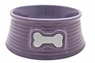 Dogit Style Ceramic Dish, Round Pattern, Purple Small, From Hagen