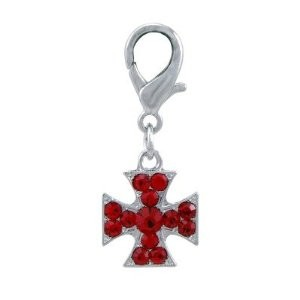 Dogit Style Charm, Cross-Red, From Hagen