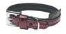 "Dogit Style Faux Leather Collar - Ibiza, Red, Small, .47""x 11.8"", From Hagen"