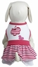Dogit Style Striped Dress, Pink with Butterfly design, Small, From Hagen
