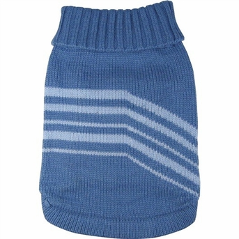 Dogit Style Striped Sweater, Blue, Large, From Hagen