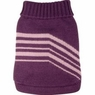 Dogit Style Striped Sweater, Purple, Large, From Hagen
