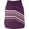 Dogit Style Striped Sweater, Purple, Medium, From Hagen