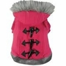 Dogit Style Sweater with Faux Fur Trimmed Hoodie, Pink, Small , From Hagen
