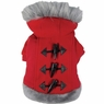Dogit Style Sweater with Faux Fur Trimmed Hoodie, Red, Large, From Hagen