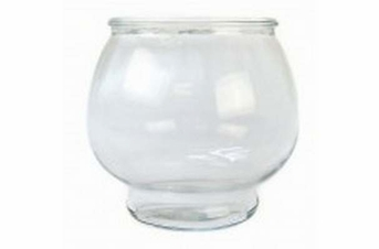 Anchor Hocking Round Glass Footed Fish Bowl .5gal