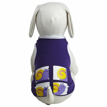 Dogit Style Tank Top, Purple with Snail design, Small, From Hagen