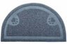 Petmate Litter Catcher Mat Ice Blue 1 2 Circle Flat