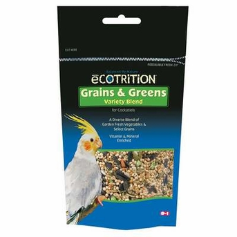 eCotrition BEOC546 Ecotrition Variety Blend Cockatiel Grains and Greens, 6.5-Ounce