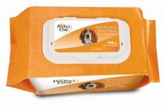 8 in 1 Perfect Coat Bath Wipes Dog Deodorizing 100ct