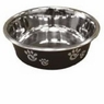 Ethical Pet Barcelona Matte and Stainless Steel Pet Dish, 16-Ounce, Licorice