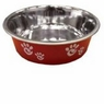 Ethical Pet Barcelona Matte and Stainless Steel Pet Dish, 32-Ounce, Raspberry