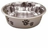 Ethical Pet Barcelona Matte and Stainless Steel Pet Dish, 8-Ounce, Silver