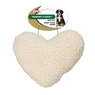 Ethical Pet Vermont Fleece Dog Toy, 8-Inch, Heart