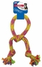 Ethical Pets Rainbow Crinkler Knotted Tug Toy, 13-Inch