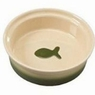 ETHICAL PRODUCTS 773831 Two Tone Sahara Dish for Cats, 5-Inch, Tapioca/Green