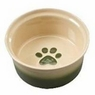 ETHICAL PRODUCTS 773832 Two Tone Sahara Dish for Dogs, 5-Inch, Tapioca/Green