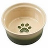 ETHICAL PRODUCTS 773833 Two Tone Sahara Dish for Dogs, 7-Inch, Tapioca/Green