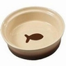 ETHICAL PRODUCTS 773834 Two Tone Sahara Dish for Cats, 5-Inch, Tapioca/Nutmeg