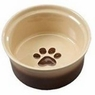 ETHICAL PRODUCTS 773835 Two Tone Sahara Dish for Dogs, 5-Inch, Tapioca/Nutmeg