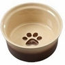 ETHICAL PRODUCTS 773836 Two Tone Sahara Dish for Dogs, 7-Inch, Tapioca/Nutmeg
