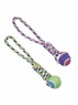 ETHICAL PRODUCTS 773851 Rainbow Twister T-Ball Tug Assorted for Pets, 16-Inch