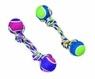 ETHICAL PRODUCTS 773852 Rainbow Twister 2 Ball Dumbell Toy for Pets, 12-Inch