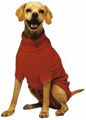 Fashion Pet Classic Cable Dog Sweater, Red, X-Small
