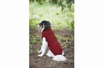 Fashion Pet Donegal Cable Sweater Red Medium