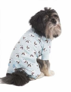 Fashion Pet Lamb Print Pet PJ's, Medium, Blue