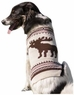 Fashion Pet Moose Pattern Dog Sweater, Medium, Cream