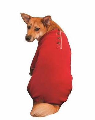 Fashion Pet Outdoor Dog Warm and Toasty Pajamas, Small, Red