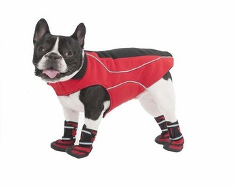Fashion Pet Performance Fleece Dog Coat, X-Small, Red