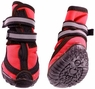 Fashion Pet Performance Waterproof Dog Boots, Medium, Red