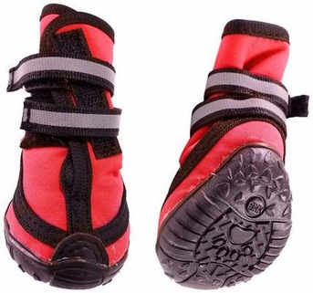 Fashion Pet Performance Waterproof Dog Boots, Small, Red