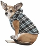 Fashion Pet Plaid Hooded Dog Coat, Medium, Blue