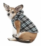 Fashion Pet Plaid Hooded Dog Coat, X-Small, Blue