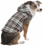 Fashion Pet Plaid Hooded Dog Coat, X-Small, Pink