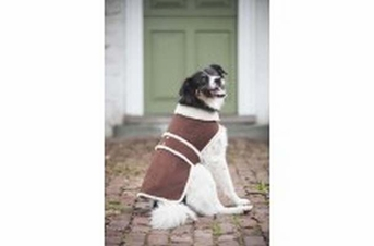 Fashion Pet Shearling Coat Brown Large