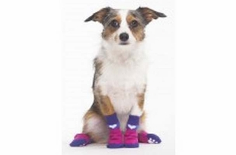 Fashion Pet Snazzy Socks Pink Heart Small