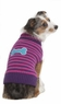 Fashion Pet Striped Bone Patch Dog Sweater, XX-Small, Pink