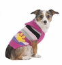 Fashion Pet Stripes and Paw Print Dog Hoodie, Medium, Pink