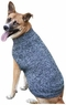 Fashion Pet Tonal Marled Dog Sweater, X-Small, Blue