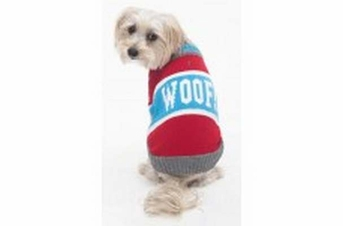 Fashion Pet Woof Sweater Red Medium