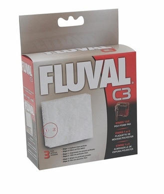 Fluval C3 Poly Foam Pad 3/pack, From Hagen