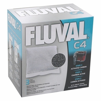 Fluval C4 Carbon 3/pack, From Hagen